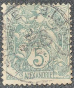 DYNAMITE Stamps: French Alexandria Scott #20 – USED