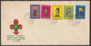 Ethiopia, Scott cat. 656-660. World Scout Conference issue. First day cover.
