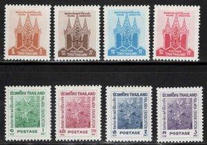 Thailand Scott 373-380 MH* 1962 WHO anti malaria stamp set