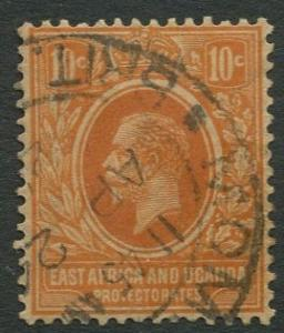 East Africa & Uganda - Scott 43 - KGV Definitive -1912 - Used -Single 10c Stamp