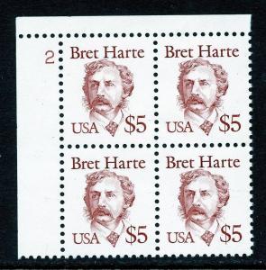 U.S. Scott 2196 VF MNH Plate Block Picturing Bret Harte