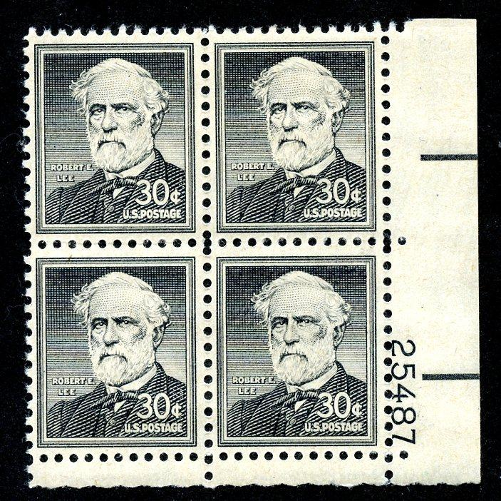 U.S. Scott 1049 FVF MNH Plate Block of 4