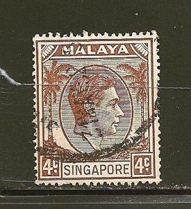 Singapore 4 King George VI Used