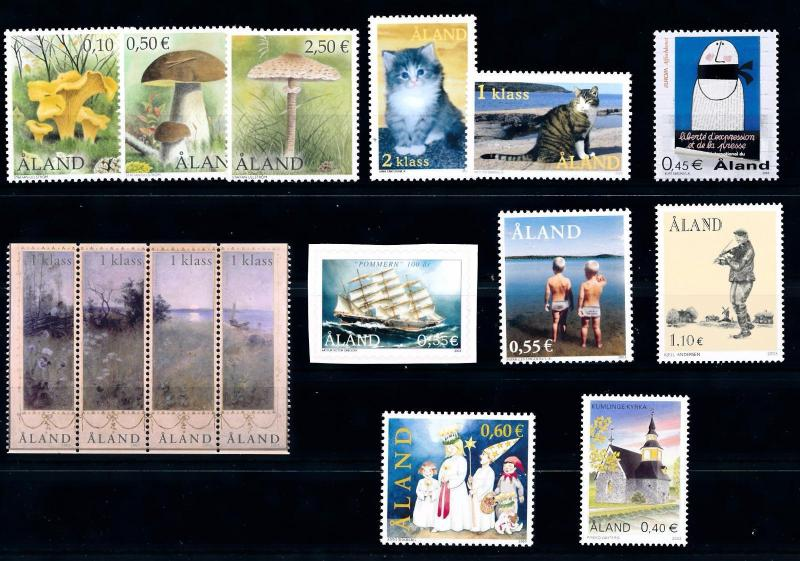 [58585] Aland 2003 Complete Year Set  MNH