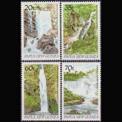PAPUA NEW GUINEA 1990 - Scott# 729-32 Waterfalls Set of 4 NH