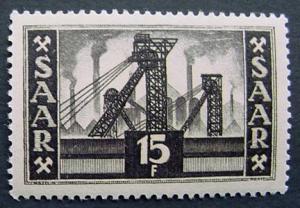 Germany, Saar, Scott 240, MNH