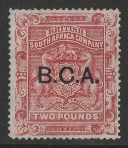 BRITISH CENTRAL AFRICA : 1891 BCA on Arms £2. RARE GENUINE!