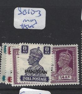 PAKISTAN  (P2412B)  KGVI ON INDIA  SG 10-3    MOG