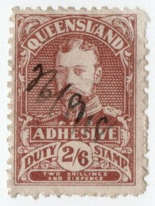 (I.B) Australia - Queensland Revenue : Adhesive Duty 2/6d