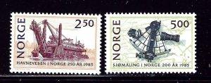 Norway 869-70 MNH 1985 Ship Navigation