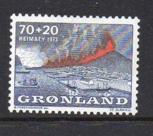 Greenland Sc B6 1973 Heimaey Volcano stamp mint NH