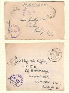 AX147 1943-45 WW2 INDIA British FPO Covers {2}