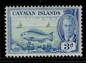 CAYMAN ISLANDS GVI SG141, 3d bright green & light blue, M MINT.