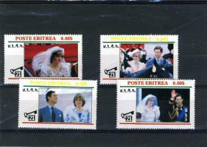 Eritrea 1981 Prince Charles & Princess Diana 4 Stamps Perforated mnh.vf