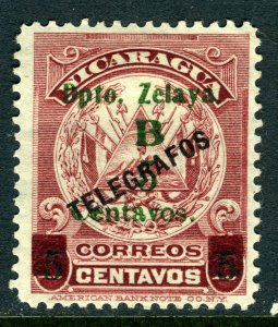 Nicaragua 1910 Bluefields 5¢/10¢ Lake Type 1 Mint T694