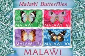Malawi - 1973 Butterflies MS Used SG 434