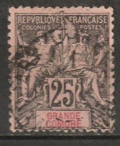 Grand Comoro 1897 Sc 10 used