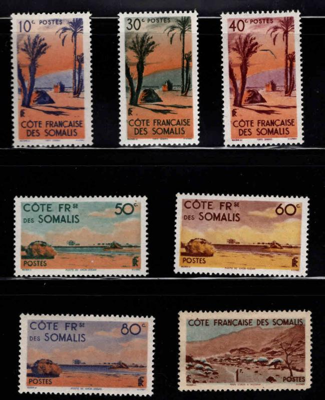 Somali Coast Scott 248-254 MH* stamps