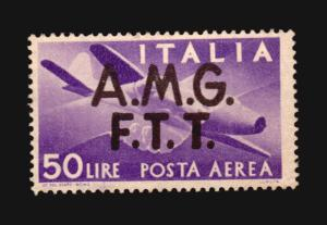 ALLIED MILITARY GOVERNMENT A.M.G. FTT TRIEST ITALY MNG STAMP 75 € WWII