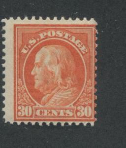 1914 US Stamp #420 30c Mint Hinged Average Original Gum