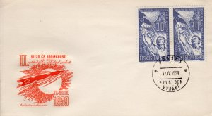 Czechoslovakia 1959 Sc#913 Reaching for the Moon FDC