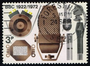 Great Britain #676 BBC Microphones; Used (0.25)
