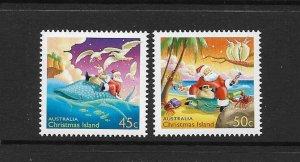 CHRISTMAS ISLAND #443-4 CHRISTMAS 2003   MNH