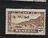 FRENCH WEST AFRICA, 2, NO GUM, SENEGAL, OVPTD.