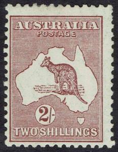 AUSTRALIA 1929 KANGAROO 2/- SMALL MULTI WMK