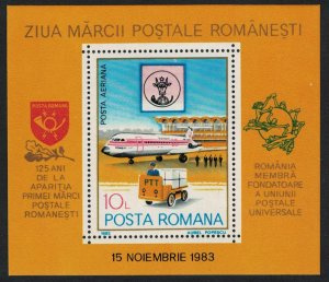 Romania Airplane UPU Stamp Day MS SG#MS4809