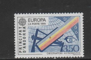 ANDORRA, FRENCH #404  1991   EUROPA  MINT VF NH  O.G