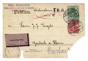 Germany 1906 Registered Card  - Z607