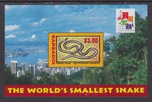 Barbados 1004 Snake Souvenir Sheet MNH VF