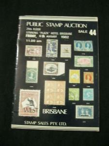 WEST BRISBANE STAMP SALES AUCTION CATALOGUE 1982