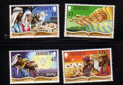 Jersey Sc 690-3 1994 Christmas stamps mint NH
