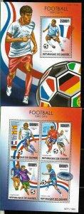 #9085 GUINEA,REP 2016 FOOTBALL SOCCER EUROCOPA 2016 MS+S/SHEET YV 7930-3 BL1845
