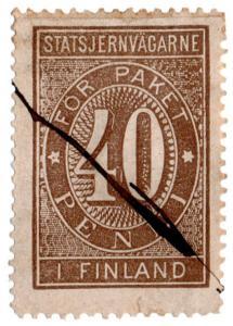 (I.B-CK) Finland Railways : Parcel Stamp 40p (State Railway)