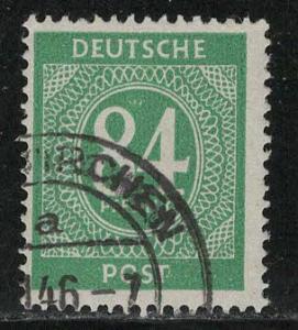 Germany AM Post Scott # 555, used, variation color