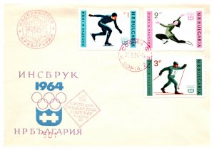 Bulgaria, Worldwide First Day Cover, Olympics