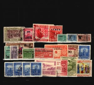 Colombia 23 Mint and Used, some faults - C2283