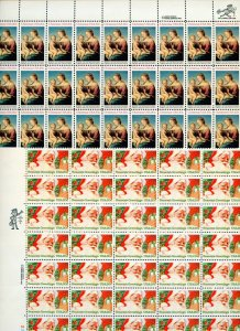 US Scott 2063-64 Xmas 1983  2 Full Sheets of 50 stamps each Mint NH
