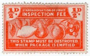 (I.B-CK) New Zealand Revenue : Fruit Inspection ½d