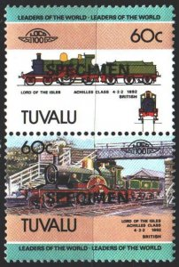 Tuvalu. 1984. 219-20 of the series. Trains. MNH.