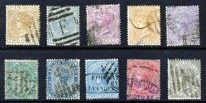 CEYLON Queen Victoria 1872-80 Watermark Crown CC Set ex. 64c. SG 121 to SG 132