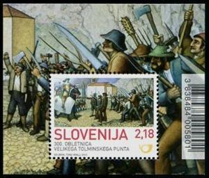 HERRICKSTAMP SLOVENIA Sc.# 983 The Great Tolmin Rebellion S/S