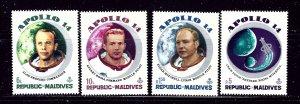 Maldive Is 367-70 MNH 1971 Apollo 14 Astronauts