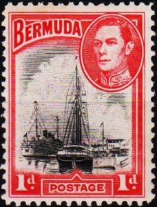 Bermuda. 1938  1d  S.G.110 Mounted Mint