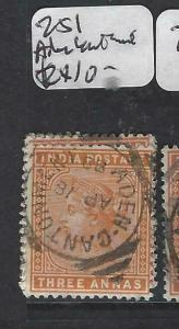 ADEN INDIA USED IN FORERUNNERS  (PP2604B)  ADEN  CANTONMENT  SGZ51  CDS VFU
