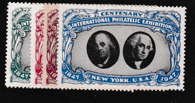 1947 International Philatelic Exhibition New York MNH Set/4