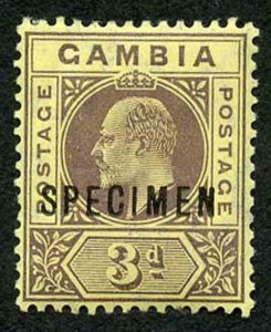 Gambia SG75s 3d Colour Change Opt SPECIMEN Fresh M/Mint